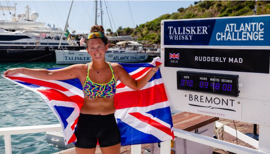 ??Jasmine Harrison, 21, from the UK, becomes the youngest female to row solo across the Atlantic Ocean